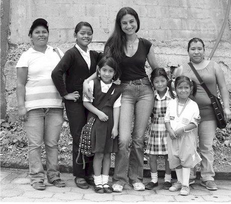 Angelita, second left, seen with family & Debora