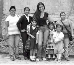 Angelita, second left, seen with family & Debora