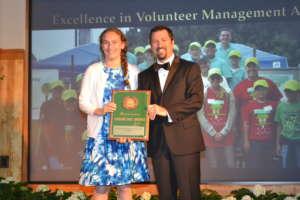 President Talia Gerard accepts Arbor Day Award