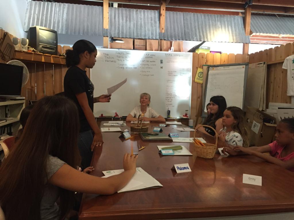 Alyssa Presents During Organizational Management