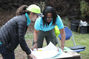 Youth Manager Raquel goes over plan with TM staff