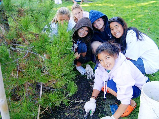 Growing young leaders and trees