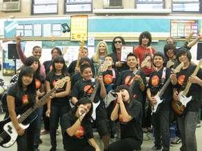 Gene Simmons visits LKR School in East L.A.
