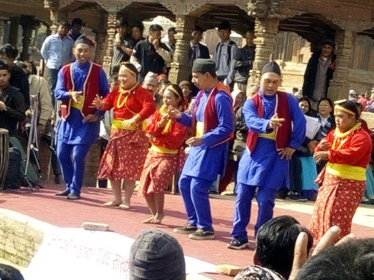 Dance performance by CwDs of Patan CBR
