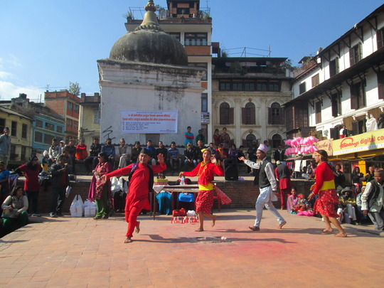 CwDs dancing on Disable day program at Mangalbaza