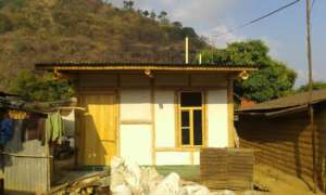 gha built bamboo-bajareque home