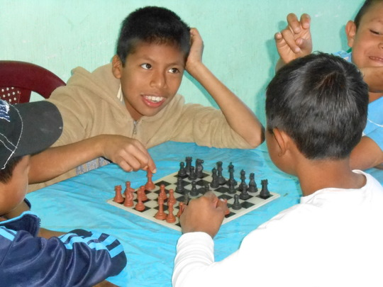 chess...a new pastime in Pasajquim