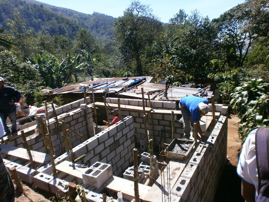 house going up in Pasajquim