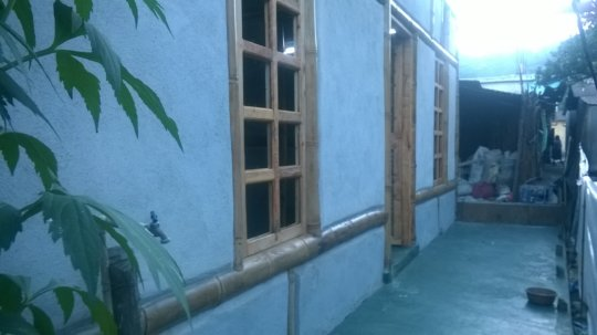 porch floor of gha's first hybrid house