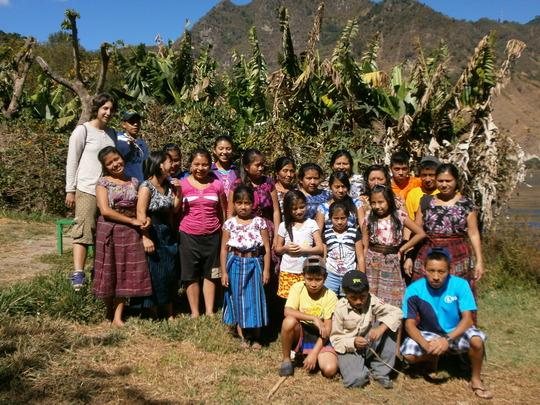 scholarship students doing community service