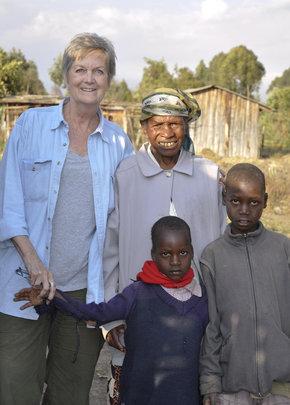 Nyanya Project Founder with Wanjiku and Grandsons