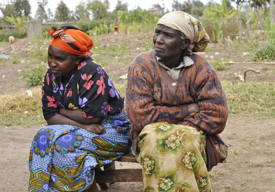 Catherine Gathoni Sits with Ruth Mawanki