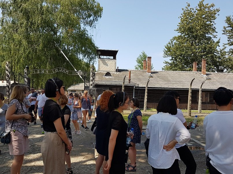 North Korean students visiting Auschwitz-Birkenau