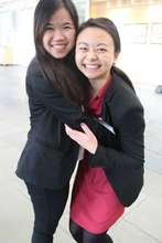 Two students at the end of the conference!