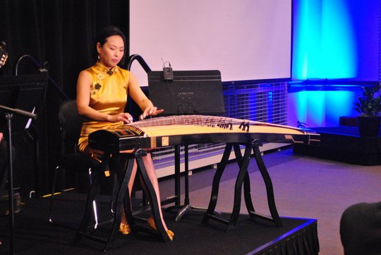 Accomplished guzheng player