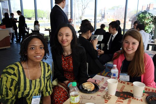 Delegates Simdi, Xiaoqian, and Emily from CLS 2013