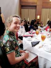 UNC student delegate - a Chinese major!