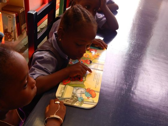 Liberian Girls Children Reading Room
