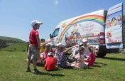 Monthly Mobile Library for Albanian Children