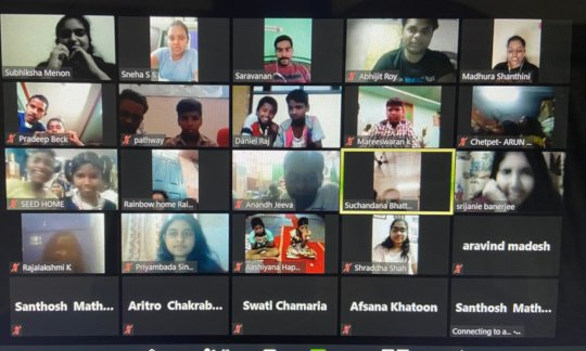 Volunteers from across India coming together