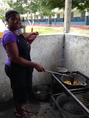 TiTi cooking lunch.