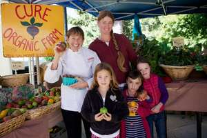 Chef Ann Cooper with local farmer Anne Cure