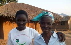 Maganizo with her grandmother