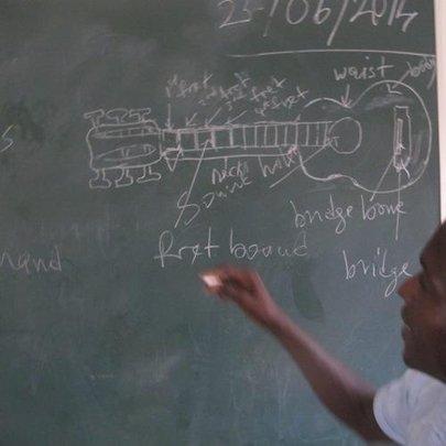 Teacher at the Bizung School leading a class