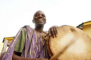 Big smiles on the drum