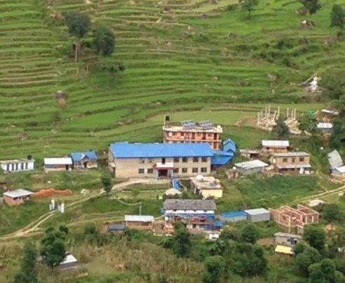 Rajbash now (2016); staff quarters behind hosp.