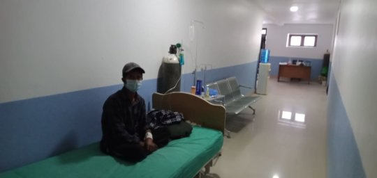 patient awaiting room in isolation ward