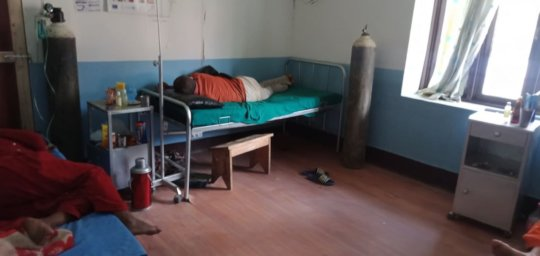 Isolation Ward-patient and oxygen