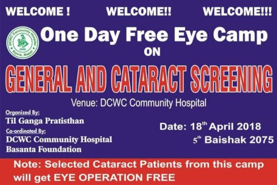 Eye Camp at Rajbash