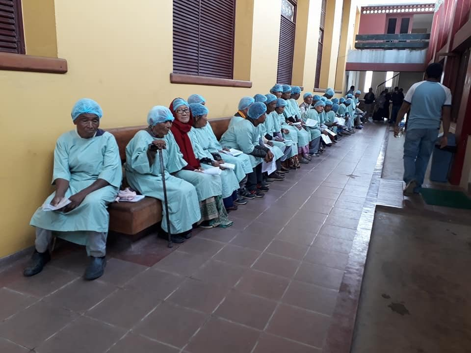 Patients at Gompah before surgery