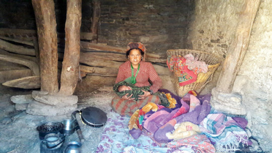 Chinkala, 22, and six day old baby in cowshed