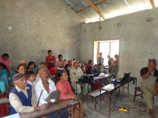 Health care presentation in the village