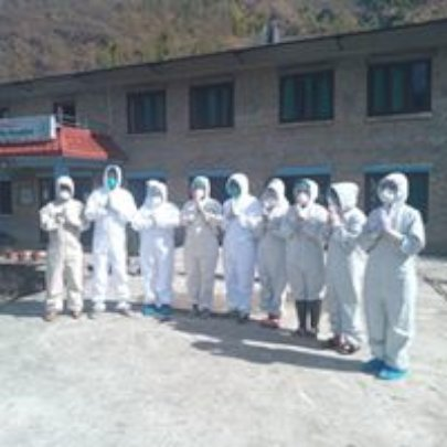 Staff with full PPE