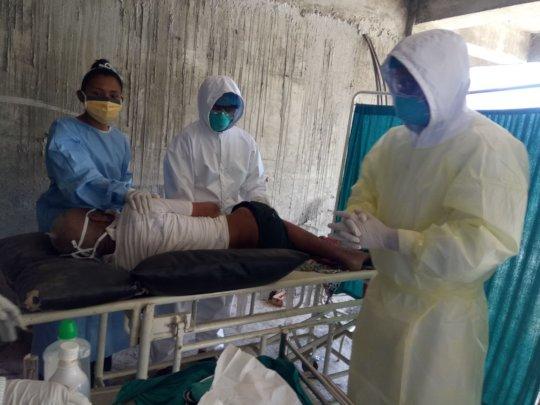 All masked treatment outside the hospital