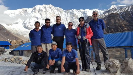 Trekkers at Annapurna Sanctuary