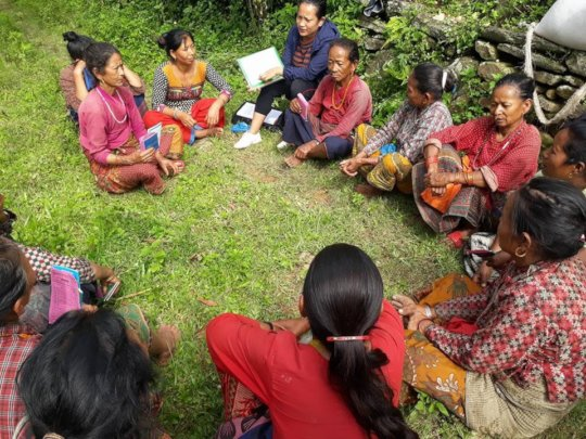 Mothers' group in village