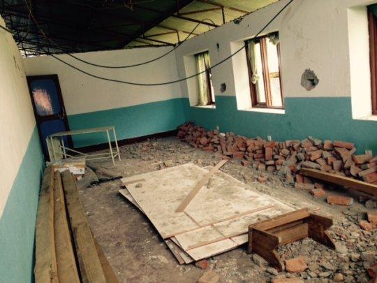 Second floor of hosp. being fortified and rebuilt