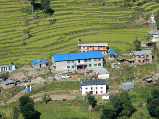 Rajbash Hospital in Kavre with Staff&Outbuildings