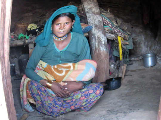 23 yr. old new mother - in cowshed while 'unclean'