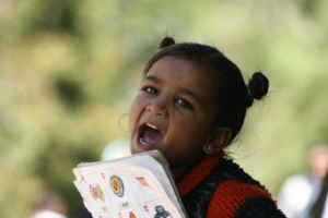 Jyoti, a student from Khati Primary School