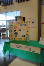 Students showed what they made using a 3D printer