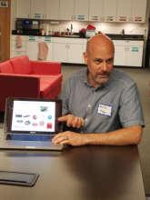 Brett shares teaching tips during CT training
