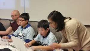 Students learn how to code.