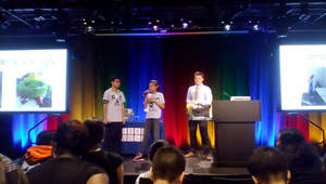 Students present to Googlers at a spring WOW!