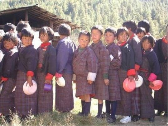 Lunch Line, Tang School, Bumthang