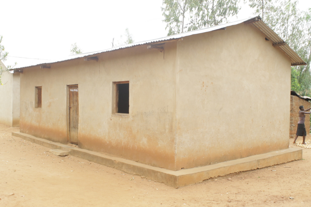 One of the 7 houses already built for widows